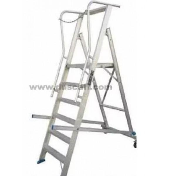 Aluminium Rolling Warehouse Ladder | 3.5 meters | 9 + 1 Steps