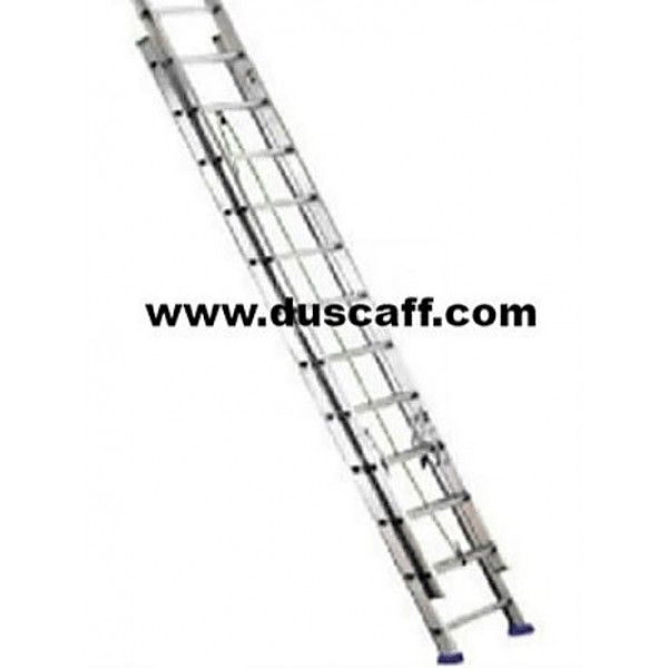 Double Section Straight Aluminium Ladder | 4.8 meters | 8 + 8 Steps