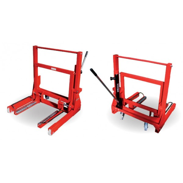 HYDRAULIC WHEEL DOLLY FOR SIMPLE OR TWIN WHEELS