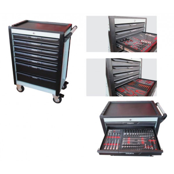 WORKSHOP-TROLLEY COMPLETE SET(Contains 224 pieces of tools)