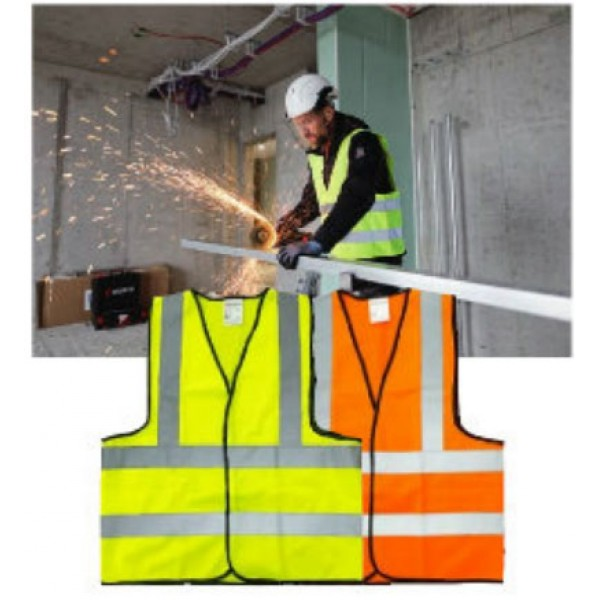 SAFETY VEST 110 GSM FABRIC 4 REFLECTIVE BAND