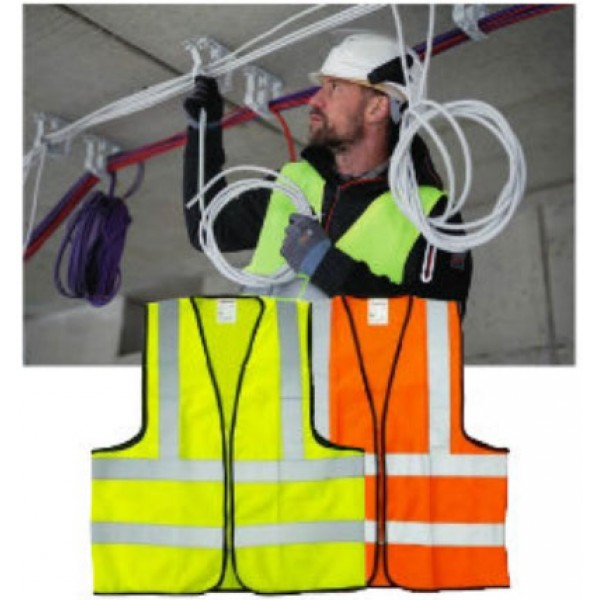 SAFETY VEST 110 GSM MESH 4 REFLECTIVE BAND