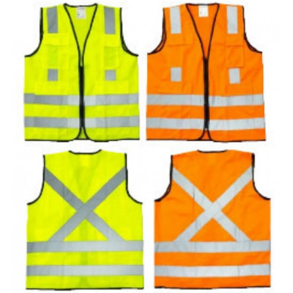 SAFETY VEST 120 GSM FABRIC 4 REFLECTIVE BAND
