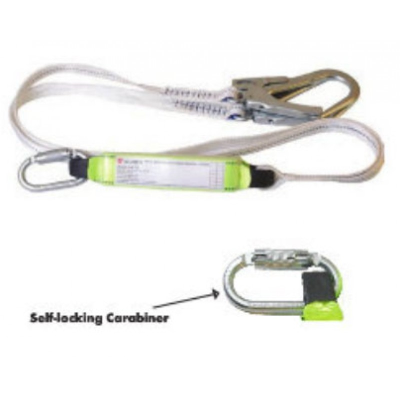 DOUBLE HOOK LANYARD WITH FALL DAMPER