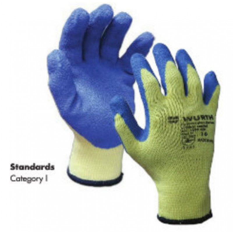 PROTECTIVE GLOVE BLUE LATEX CRINKLE