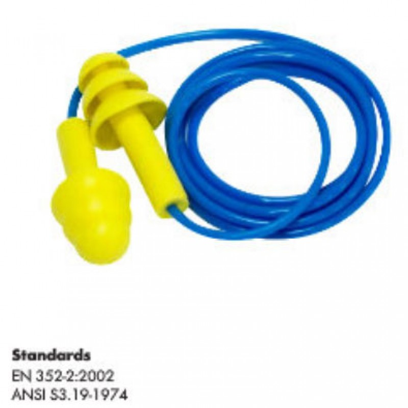 REUSABLE EARPLUG CORDED
