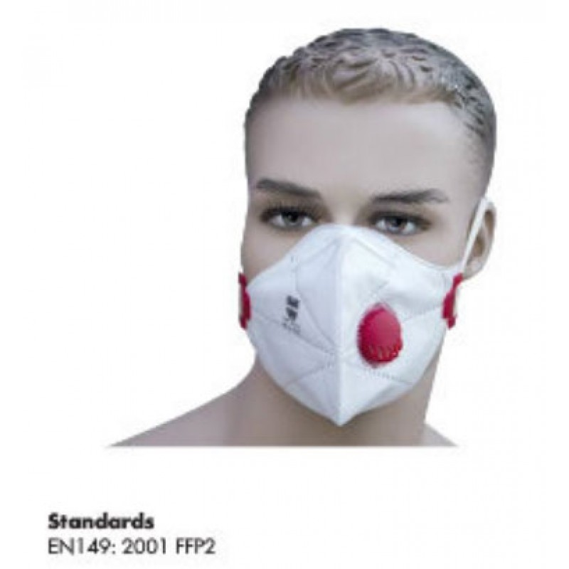 FOLDABLE MASK FFP2 WITH VALVE