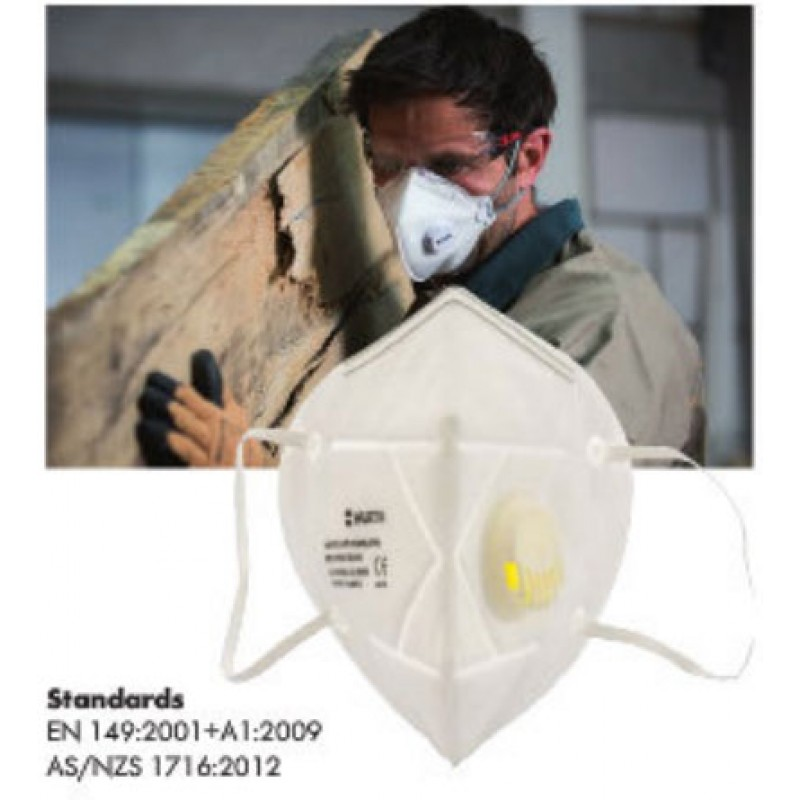 FOLDABLE RESPIRATOR FFP2 WITH VALVE